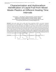 Characterization-and-Hydrocarbon-Identification-of-Liquid-Fuel-from-Mixed-Waste-Plastics-at-Differen
