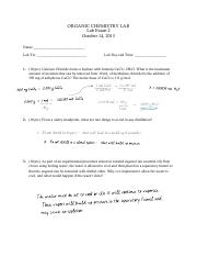 Orgo Lab Exam 2 2013 solution .pdf
