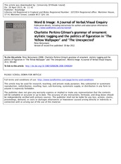Charlotte Perkins Gillmans Grammar of Ornament stylistic tagging and the politics of figuration in t