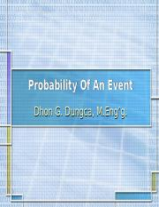 IESTAT1]-Probability of an Event