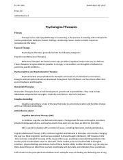 Psychological Therapies, Article 6 review