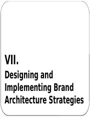 Brand Architecture and Brand Extension Strategies