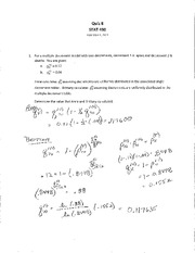 STAT 490 F11 Quiz 8 Solutions