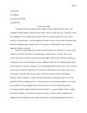 Crime Essay- Rape Sociology 1101