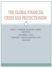 Team 2 - Global Financial Crisis and Protectionism