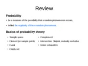 Probability (2) basics of probability of an event
