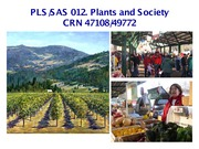 UC Davis SAS 12 Spring 2015 L01 Plants and People in Agriculture