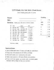 MATH 110 - Fall 2010 - Persson - Final (solution)