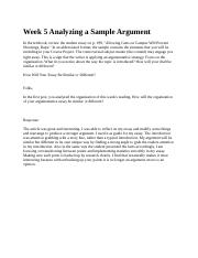 Week 5 Analyzing a Sample Argument 1.4.docx