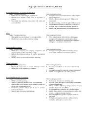Test 1 Eligible Topics Fall 2014