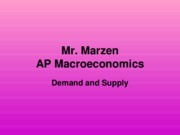 Supply and Demand - AP