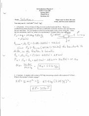 Exam #2 Spring 2015 Solutions
