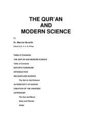 Quran & Modern Science by  Dr. Maurice Bucaille Edited by DR. BILAL PHILIPS