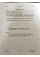 Peer Review Guide about Conducting a Peer Review in a Serious Business Notes