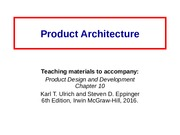 Ch10 Product_Architecture