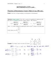 7 - Properties of Determinants