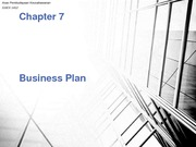 Chapter 7 - Business Plan