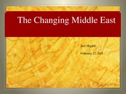 Lecture 21 Migdal on the Middle East