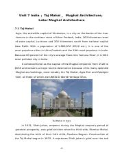 7 India:Taj Mahal,Mughal Architecture,Later Mughal Architecture p49-56.doc