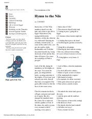 hymn to the nile