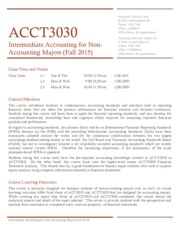 ACCT3030 Course Information