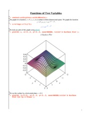 functions 2 variables