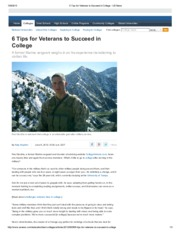 6 Tips for Veterans to Succeed in College - US News