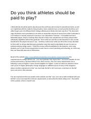 Do you think athletes should be paid to play.docx