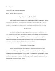 Teaira Spencer MGMT 0475 Case Study Publix - Additional Questions.docx