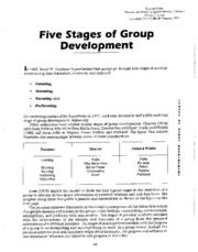 Week 2 - article - Tuckmans 5 Stages of Group Dev - Read