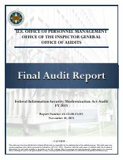 OIG report on the OPM breach.pdf