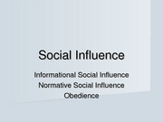 Ch 8.2 Social Influence.studentwithnotes