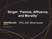 Phil 220 Famine Affluence and Morality