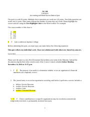 Holt - Accounting and Bank Reconciliation Quiz