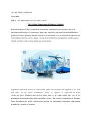 Logistics and Freight Assignment .docx