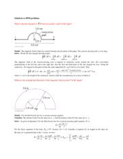 HW 8 - Biot Savart Law and the Magnetic Field