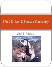 Law Culture and Community Week 4
