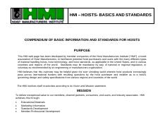 HMI_HOISTBASICS_AND_STANDARDS