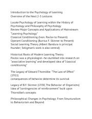 Introduction to the Psychology of Learning.docx