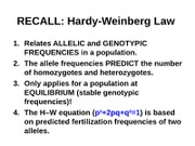 Chapter 25 - Population Genetics part 2 posting