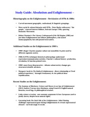 STUDY GUIDE HIST 104 ABSOLUTISM AND ENLIGHTENMENT