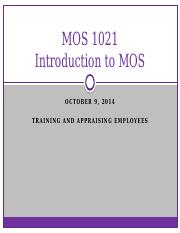 Lecture 4- Training and Appraising Employees