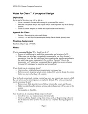 06_Conceptual Design  notes