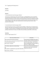 0204 - Integrating and Evaluating Sources - Corrected.rtf