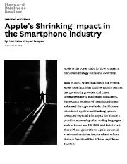 Apple's Shrinking Impact in the Smartphone Industry