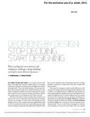 Decisionbydesign