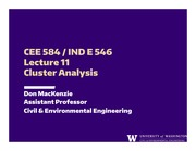 Lecture 11 - Cluster Analysis