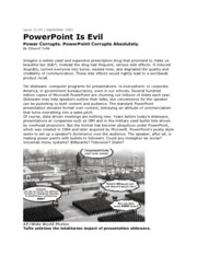 PowerPoint is Evil, Edward Tufte