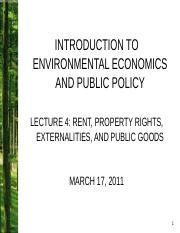 04. Rent, Property Rights, Externalities and Public Good-2.ppt