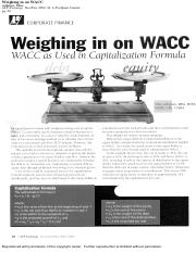 Resource - Article - Weighing in on WACC(1).pdf